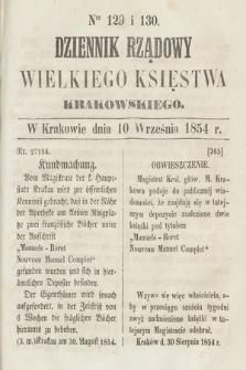 Dziennik Rządowy Wielkiego Księstwa Krakowskiego. 1854, nr129-130