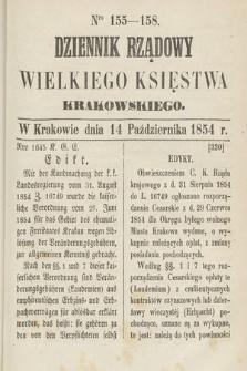 Dziennik Rządowy Wielkiego Księstwa Krakowskiego. 1854, nr155-158