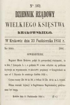 Dziennik Rządowy Wielkiego Księstwa Krakowskiego. 1854, nr162