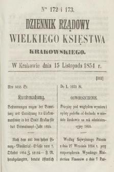 Dziennik Rządowy Wielkiego Księstwa Krakowskiego. 1854, nr172-173