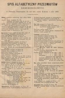 Dziennik Rozporządzeń dla Stoł. Król. Miasta Krakowa. 1883 [całość]