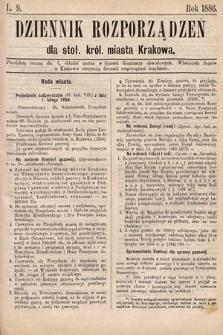Dziennik Rozporządzeń dla Stoł. Król. Miasta Krakowa. 1886, L.9
