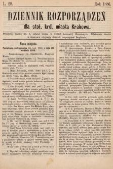 Dziennik Rozporządzeń dla Stoł. Król. Miasta Krakowa. 1886, L.28