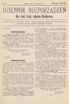 Dziennik Rozporządzeń dla Stoł. Król. Miasta Krakowa. 1907, L.2
