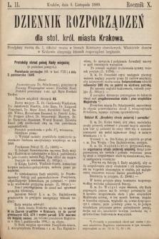 Dziennik Rozporządzeń dla Stoł. Król. Miasta Krakowa. 1889, L.11