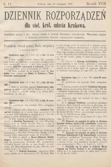 Dziennik Rozporządzeń dla Stoł. Król. Miasta Krakowa. 1897, L.11