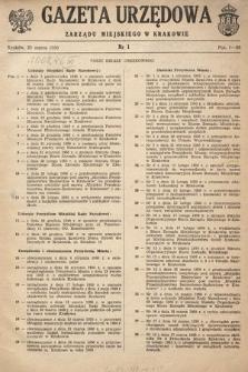 Gazeta Urzędowa Zarządu Miejskiego w Krakowie. 1950, nr1