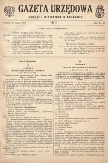 Gazeta Urzędowa Zarządu Miejskiego w Krakowie. 1950, nr2