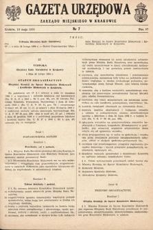 Gazeta Urzędowa Zarządu Miejskiego w Krakowie. 1950, nr7