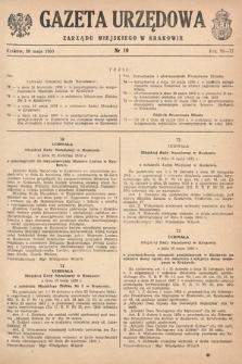 Gazeta Urzędowa Zarządu Miejskiego w Krakowie. 1950, nr10