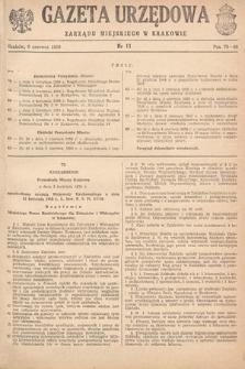 Gazeta Urzędowa Zarządu Miejskiego w Krakowie. 1950, nr11