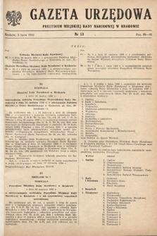 Gazeta Urzędowa Zarządu Miejskiego w Krakowie. 1950, nr13