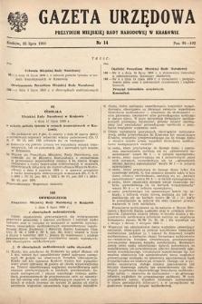 Gazeta Urzędowa Zarządu Miejskiego w Krakowie. 1950, nr14