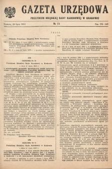 Gazeta Urzędowa Zarządu Miejskiego w Krakowie. 1950, nr15
