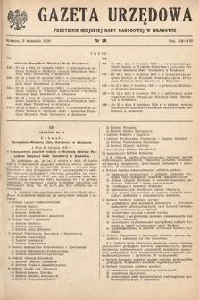 Gazeta Urzędowa Zarządu Miejskiego w Krakowie. 1950, nr18