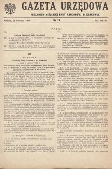 Gazeta Urzędowa Zarządu Miejskiego w Krakowie. 1950, nr19