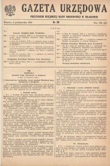 Gazeta Urzędowa Zarządu Miejskiego w Krakowie. 1950, nr20