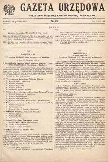 Gazeta Urzędowa Zarządu Miejskiego w Krakowie. 1950, nr23
