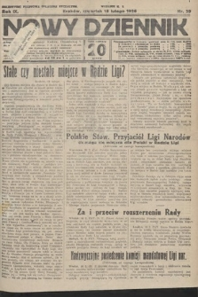 Nowy Dziennik. 1926, nr39
