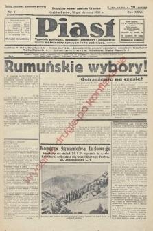 Piast : tygodnik polityczny, społeczny, oświatowyi gospodarczy, poświęcony sprawom ludu polskiego. 1938, nr3