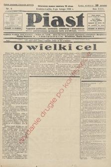 Piast : tygodnik polityczny, społeczny, oświatowyi gospodarczy, poświęcony sprawom ludu polskiego. 1938, nr6
