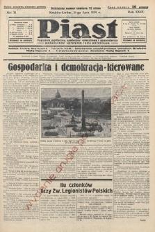 Piast : tygodnik polityczny, społeczny, oświatowyi gospodarczy, poświęcony sprawom ludu polskiego. 1938, nr31