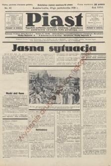 Piast : tygodnik polityczny, społeczny, oświatowyi gospodarczy, poświęcony sprawom ludu polskiego. 1938, nr43