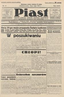 Piast : tygodnik polityczny, społeczny, oświatowyi gospodarczy, poświęcony sprawom ludu polskiego. 1936, nr21