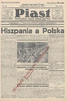 Piast : tygodnik polityczny, społeczny, oświatowyi gospodarczy, poświęcony sprawom ludu polskiego. 1936, nr48 [po konfiskacie]