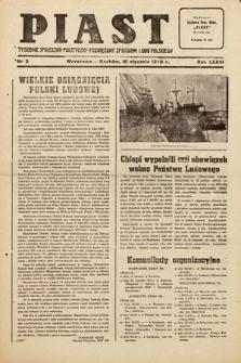 Piast : tygodnik społeczno-polityczny poświęcony sprawom ludu polskiego. 1949, nr3