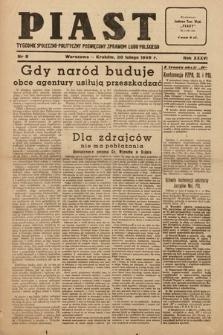 Piast : tygodnik społeczno-polityczny poświęcony sprawom ludu polskiego. 1949, nr8