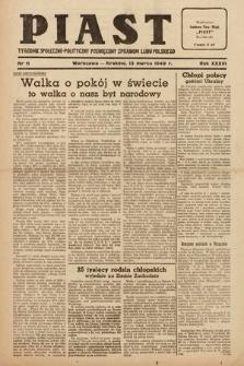 Piast : tygodnik społeczno-polityczny poświęcony sprawom ludu polskiego. 1949, nr11