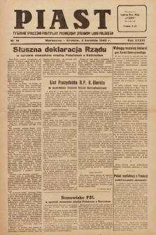 Piast : tygodnik społeczno-polityczny poświęcony sprawom ludu polskiego. 1949, nr14