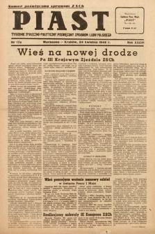 Piast : tygodnik społeczno-polityczny poświęcony sprawom ludu polskiego. 1949, nr17a