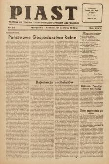 Piast : tygodnik społeczno-polityczny poświęcony sprawom ludu polskiego. 1949, nr25