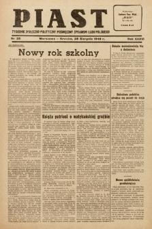Piast : tygodnik społeczno-polityczny poświęcony sprawom ludu polskiego. 1949, nr35