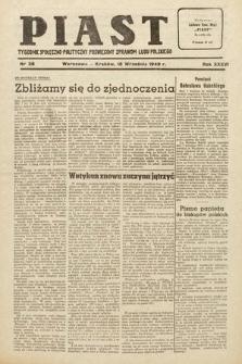 Piast : tygodnik społeczno-polityczny poświęcony sprawom ludu polskiego. 1949, nr38