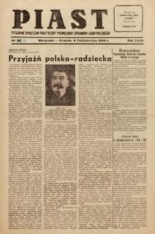 Piast : tygodnik społeczno-polityczny poświęcony sprawom ludu polskiego. 1949, nr41