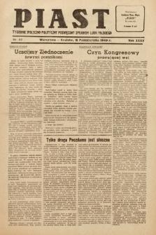 Piast : tygodnik społeczno-polityczny poświęcony sprawom ludu polskiego. 1949, nr42