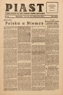 Piast : tygodnik społeczno-polityczny poświęcony sprawom ludu polskiego. 1949, nr43