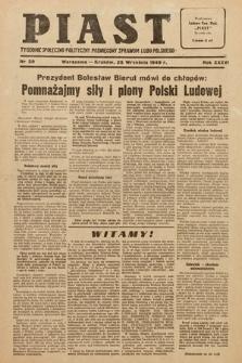 Piast : tygodnik społeczno-polityczny poświęcony sprawom ludu polskiego. 1949, nr39