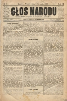 Głos Narodu. 1895, nr1