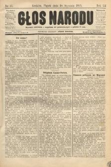 Głos Narodu. 1895, nr15
