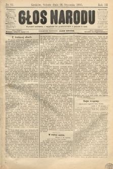 Głos Narodu. 1895, nr22