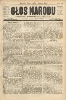 Głos Narodu. 1895, nr27