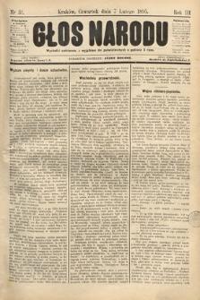 Głos Narodu. 1895, nr31
