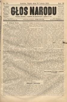 Głos Narodu. 1895, nr38
