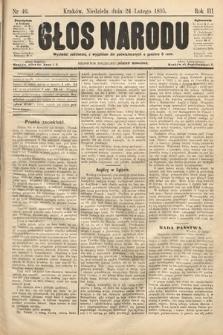 Głos Narodu. 1895, nr46