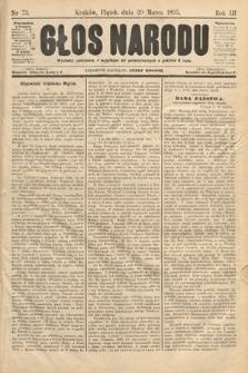 Głos Narodu. 1895, nr73
