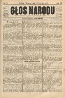 Głos Narodu. 1895, nr76